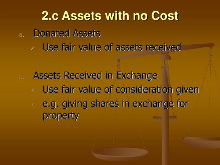 2.c Assets with no Cost