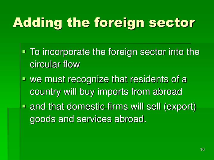 Adding the foreign sector