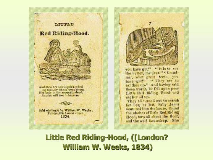 Little Red Riding-Hood, ([London?