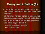money and inflation 2
