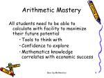 arithmetic mastery1