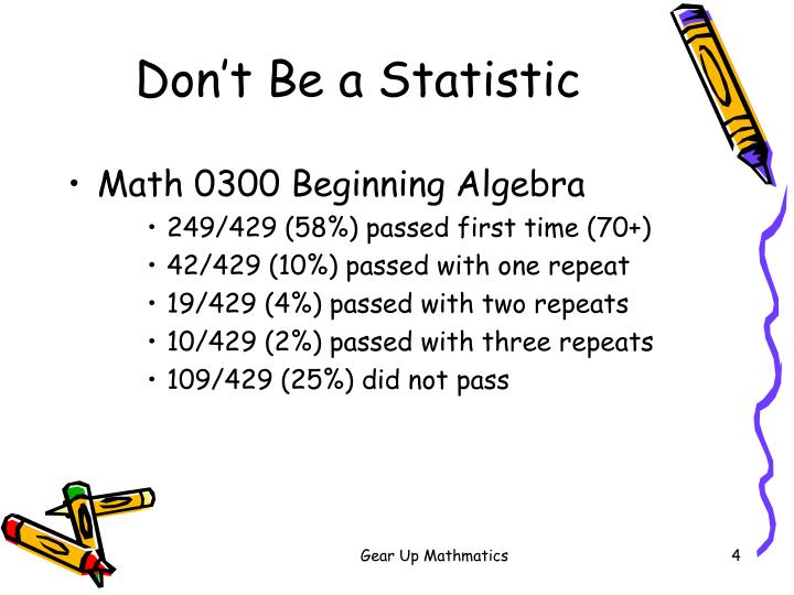 Don't Be a Statistic