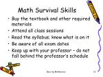 math survival skills