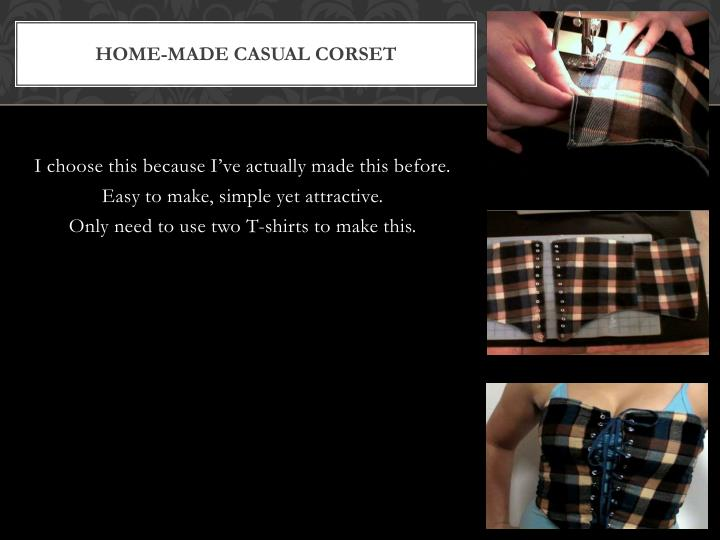Home-Made Casual Corset