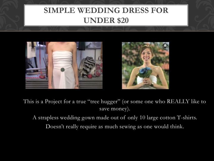 Simple Wedding Dress for Under $20