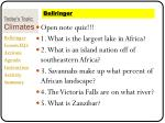 today s topic climates