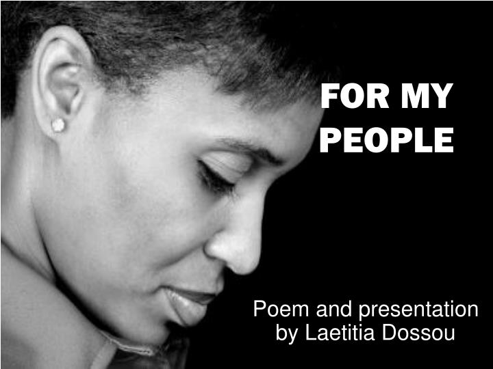 poem and presentation by laetitia dossou