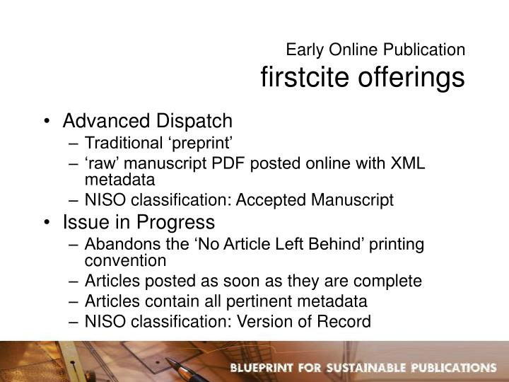 Early Online Publication