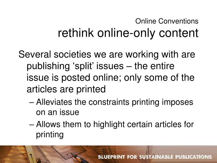 Online Conventions