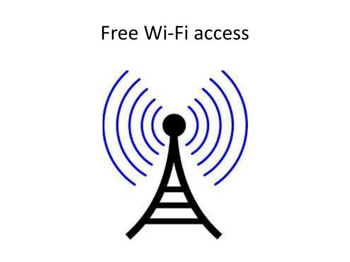 Free Wi-Fi access