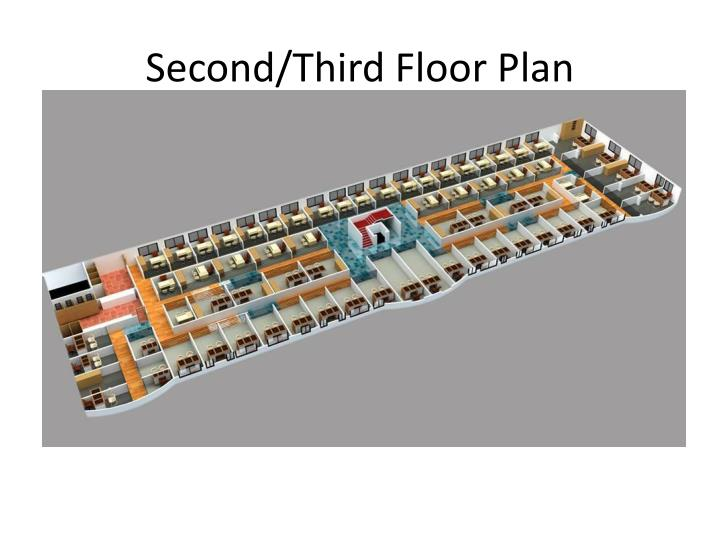 Second/Third Floor Plan