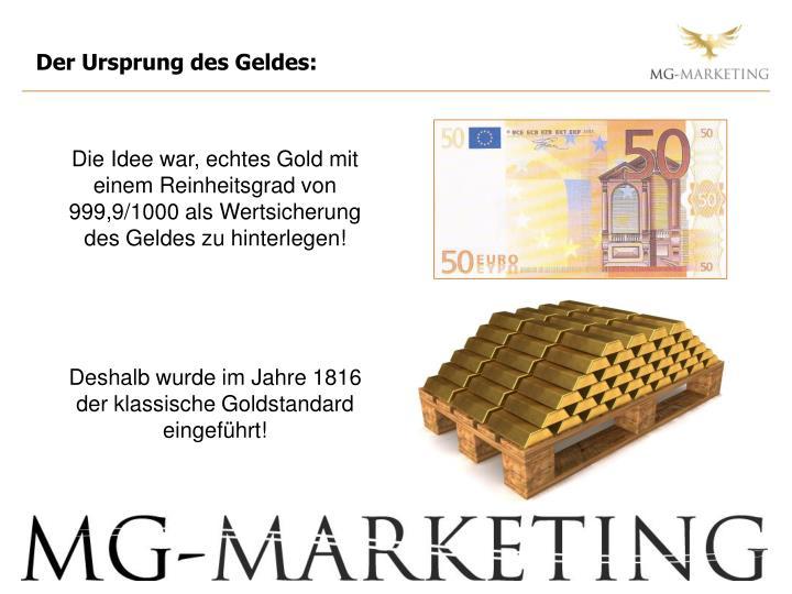 Der Ursprung des Geldes: