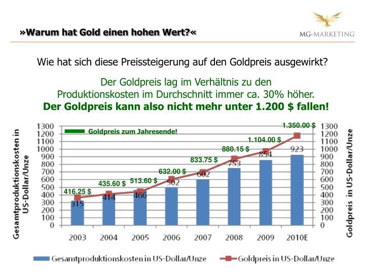 »Warum hat Gold einen hohen Wert?«