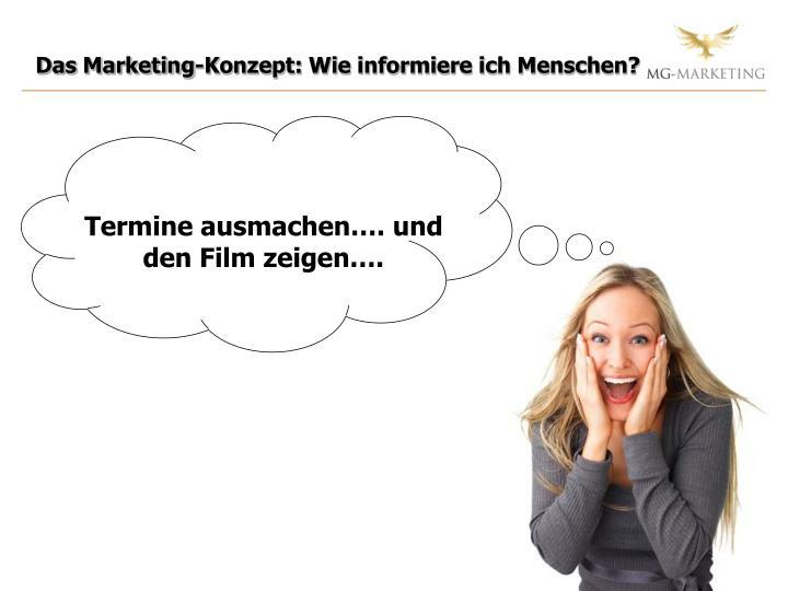 Das Marketing-Konzept: Wie informiere ich Menschen?