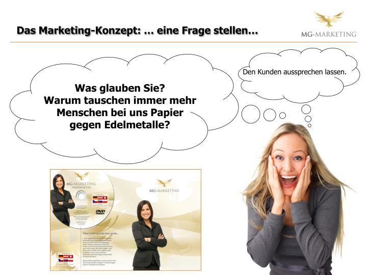 Das Marketing-Konzept: … eine Frage stellen…