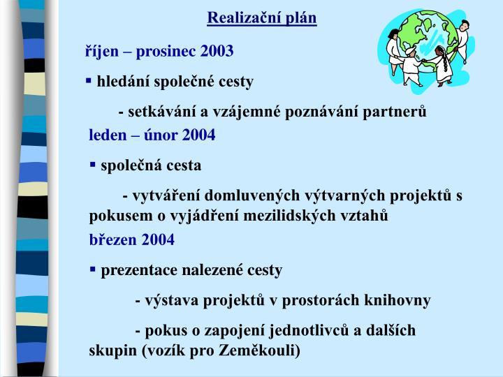 Realizační plán