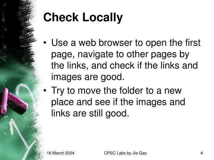 Check Locally