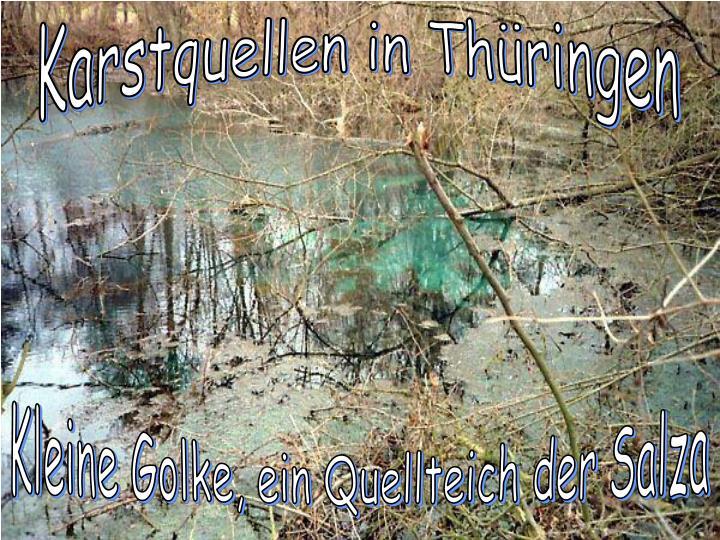 Karstquellen in Thüringen