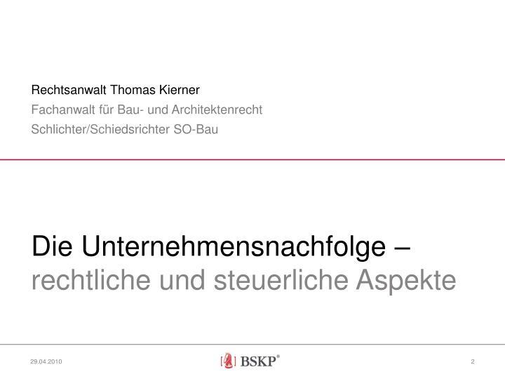 Rechtsanwalt Thomas Kierner