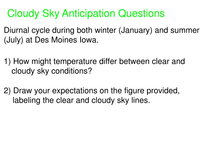 Cloudy Sky Anticipation Questions
