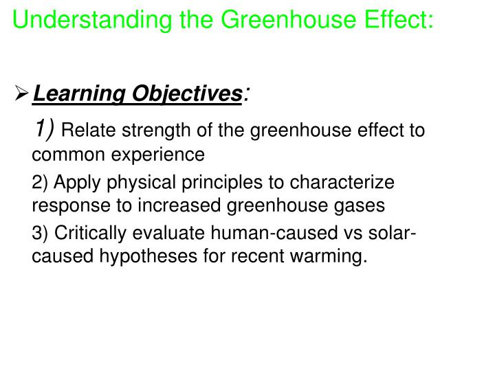 Understanding the greenhouse effect1