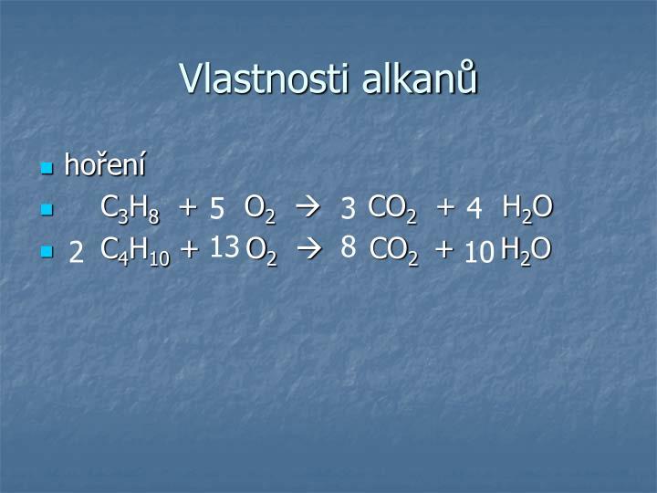 Vlastnosti alkanů