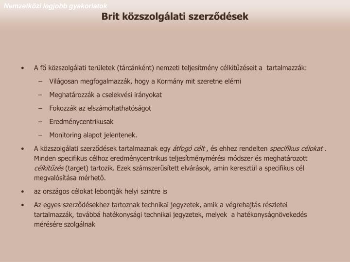 Brit közszolgálati szerződések