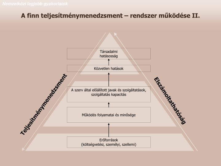 A finn teljesítménymenedzsment – rendszer működése II.