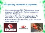 anti poaching techniques in corporates