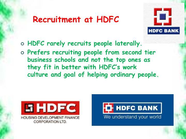 Recruitment at HDFC