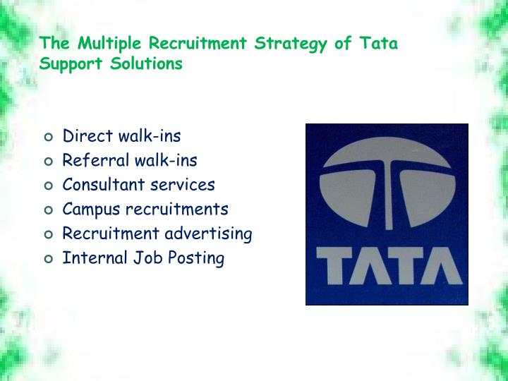 The Multiple Recruitment Strategy of Tata Support Solutions