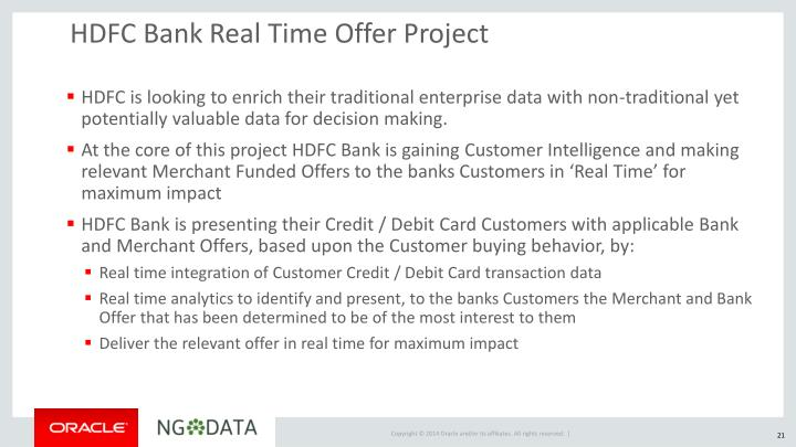 HDFC Bank Real Time Offer Project