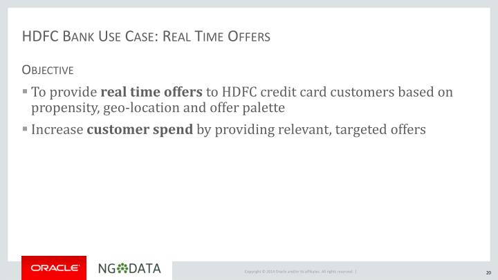 HDFC Bank Use Case: Real Time Offers
