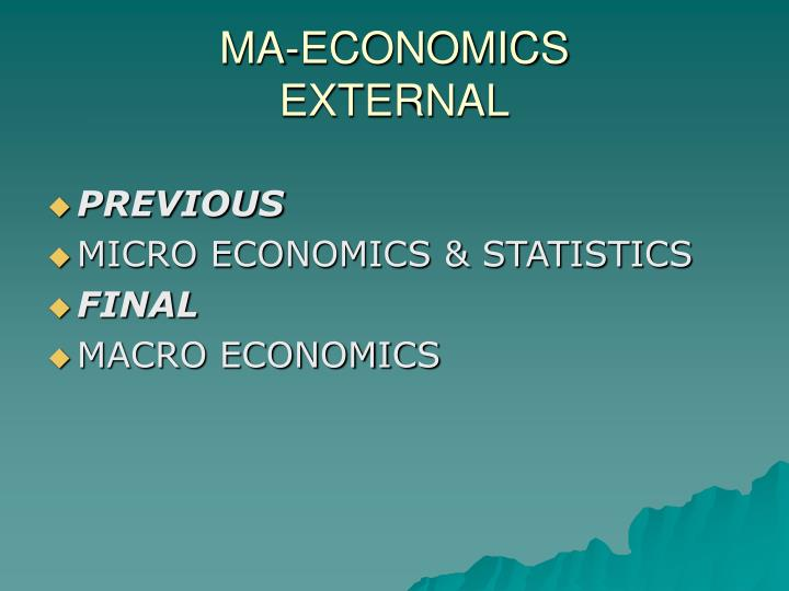 MA-ECONOMICS