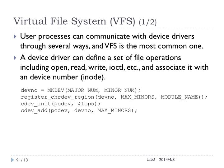 Virtual File System (VFS)