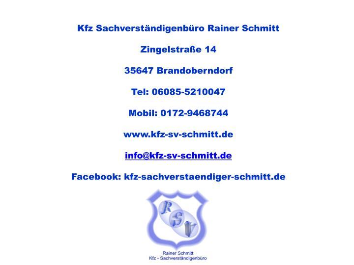 Kfz Sachverständigenbüro Rainer Schmitt