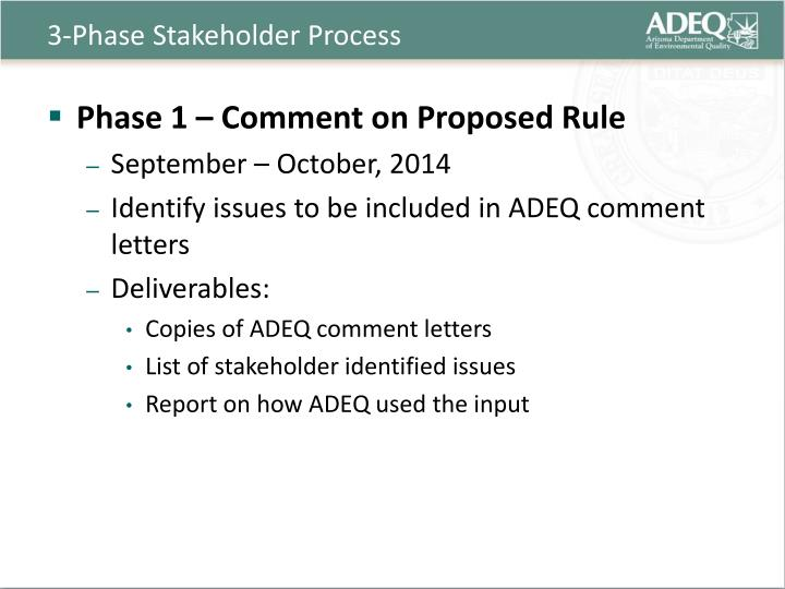 3 phase stakeholder process