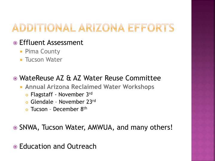 Additional Arizona Efforts