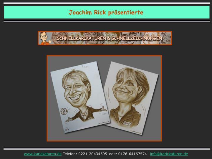 Joachim Rick präsentierte