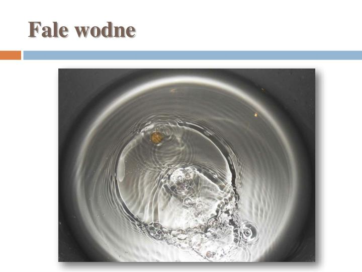 Fale wodne