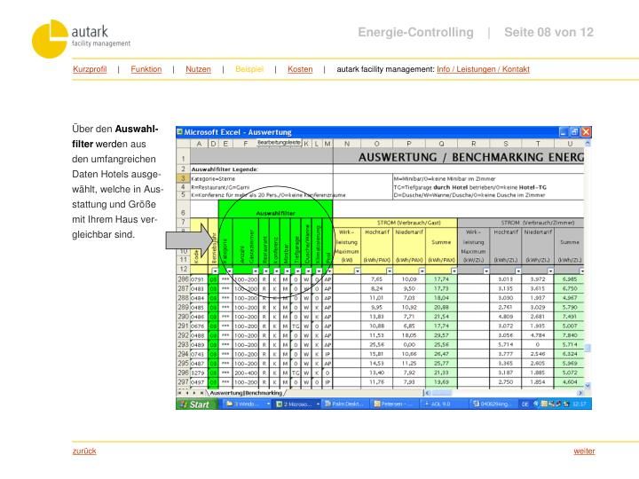 Energie-Controlling         Seite 08 von 12