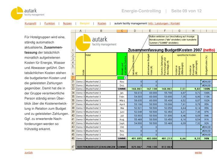 Energie-Controlling         Seite 09 von 12