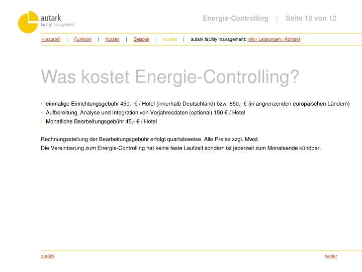 Energie-Controlling         Seite 10 von 12