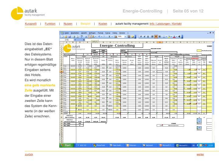 Energie-Controlling         Seite 05 von 12