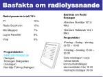 basfakta om radiolyssnande