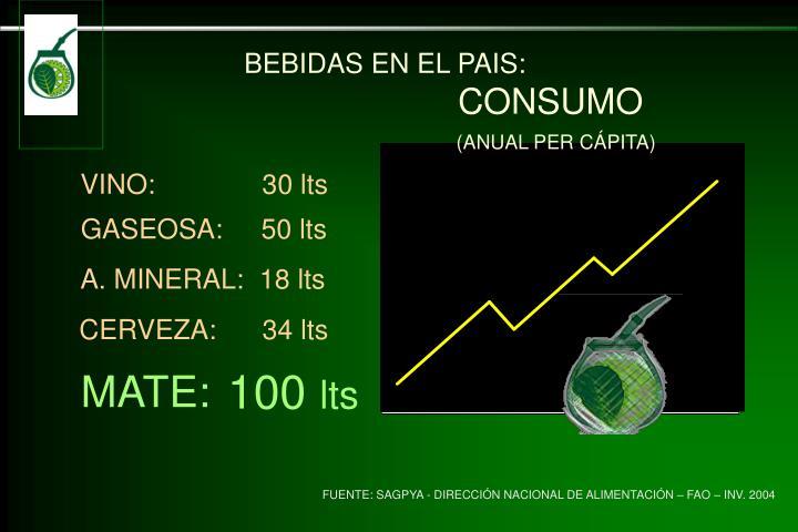 BEBIDAS EN EL PAIS: