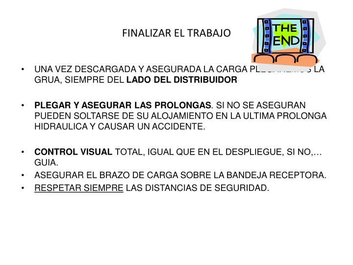 FINALIZAR EL TRABAJO