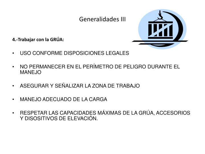 Generalidades III
