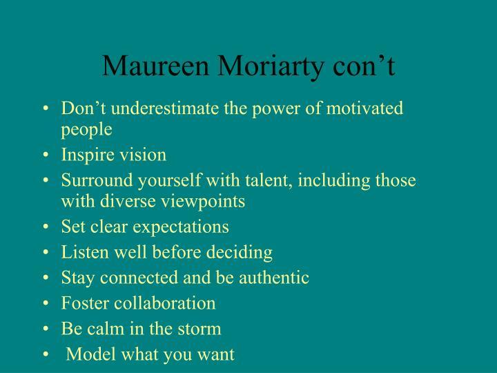 Maureen Moriarty con't