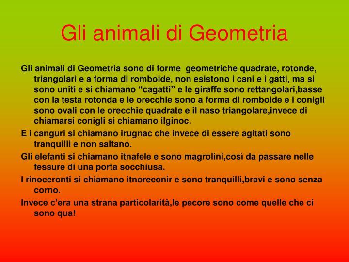 Gli animali di Geometria